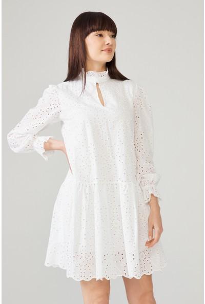 adL Kadın Uzun Kollu Vual Elbise