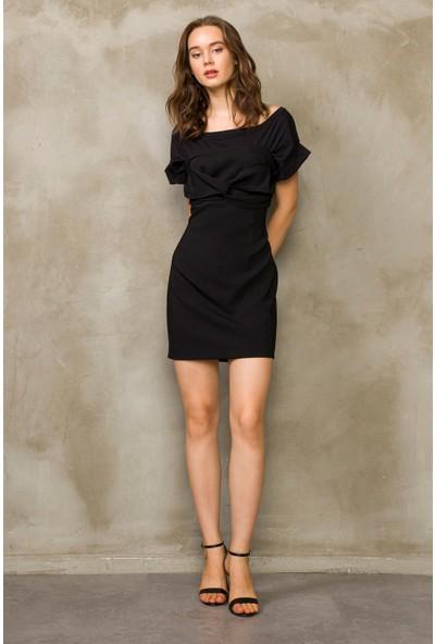 Love my body Kadın Omuzları Açık Elbise