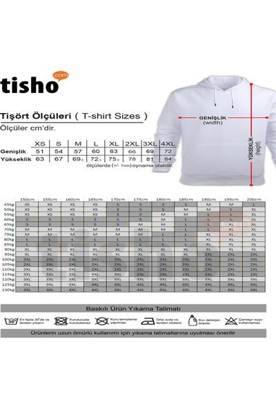 Tisho Zebra Baskılı Unisex Kapüşonlu Sweatshirt