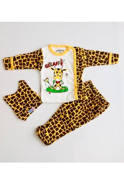 Babycan Zürafa Figürlü Kendinden Eldivenli 3.lü Bebek Takım