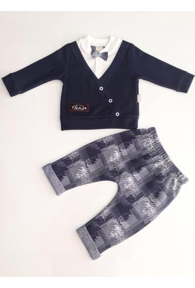 Dandini Papyonlu Sahte Ceketli 2'li Erkek Bebek Takım