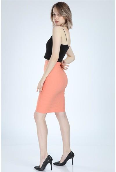 Meissa Fashion Kadın Pudra Kalem Etek