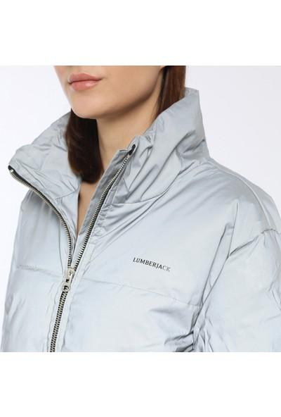 Lumberjack Space Coat Gri Kadın Kısa Kaban