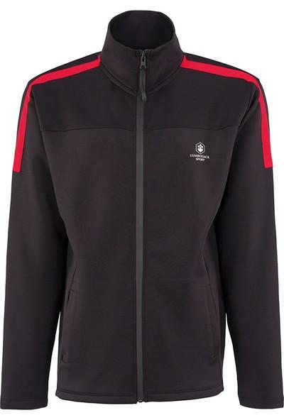 Lumberjack Luka Track Suit Siyah Erkek Fermuarlı Sweatshirt
