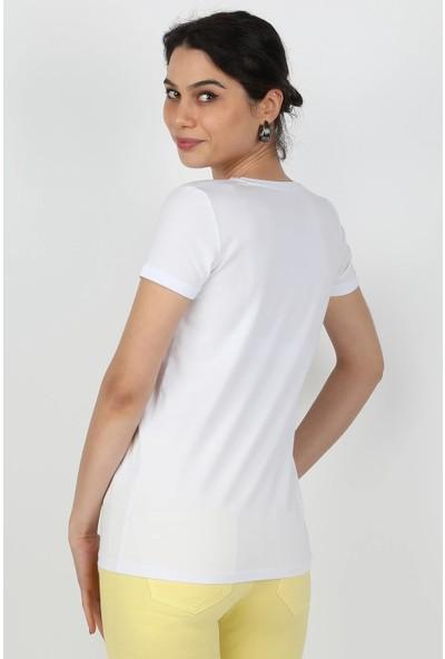 Balins Kadın Süprem Kısa Kollu Tişört Beyaz
