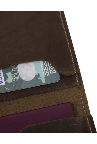 Bouletta PH02 Deri Pasaport Kılıf-Cüzdan Ro6 Kahve