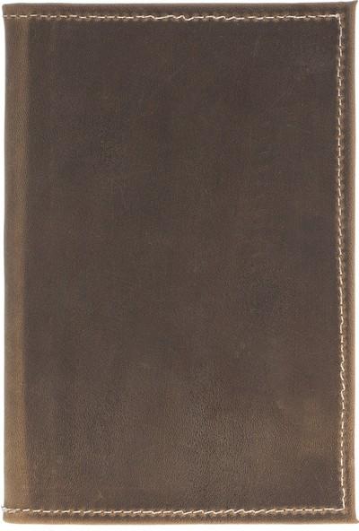 Bouletta PH04 Deri Pasaport Kılıf-Cüzdan Ro6 Kahverengi
