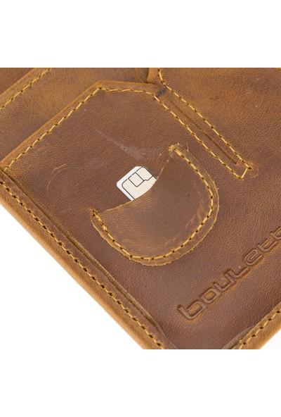 Bouletta PH04 Deri Pasaport Kılıf-Cüzdan RO02 Taba