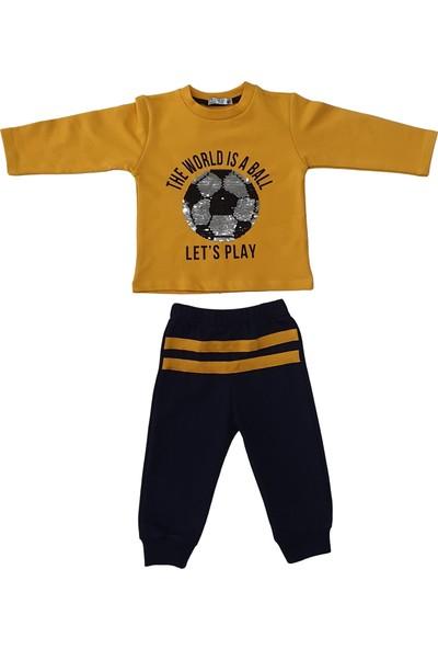 Veo Baby Football Toplu Pul Nakışlı Kız Bebek & Erkek Bebek 2'li Takım
