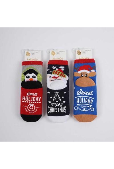 Artı 3 Çift Taban Kaydırmaz Dikişsiz Havlu Soket Çorap