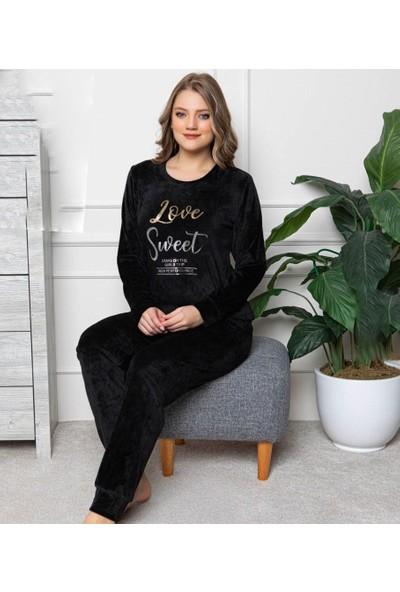 Pijamoni Fransız Kadife Pijama Takımı