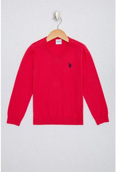 U.S. Polo Assn. Kız Çocuk Pembe Triko Kazak 50224699-Vr023