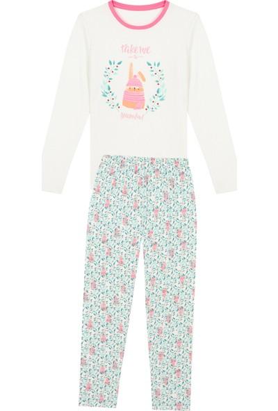 Penti Beyaz - Pembe Teen Dreamland Termal 2li Pijama Takımı