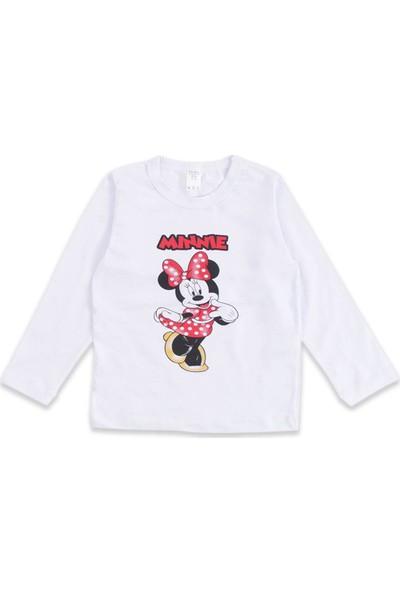 Minnie Mouse Kız Çocuk Pembe Minnie Mouse Kapüşonlu Eşofman Takımı