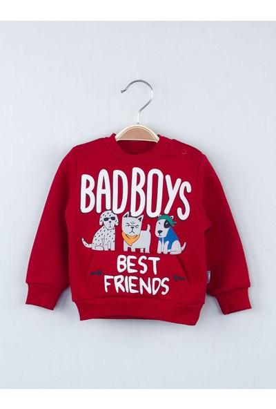 Modakids Kırmızı Kışlık Erkek Bebek Eşofman Takımı
