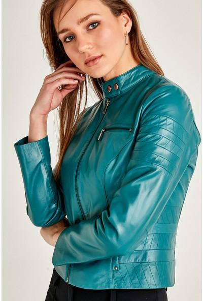 Derimod Nina Kadın Deri Ceket