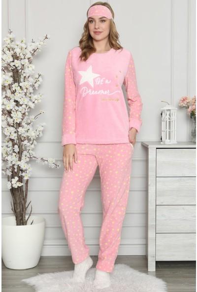 Pijama Evi Star Dreamer Desenli Kadın Peluş Pijama Takımı