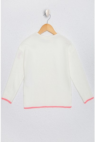U.S. Polo Assn. Kız Çocuk Beyaz Triko Kazak 50224468-Vr156