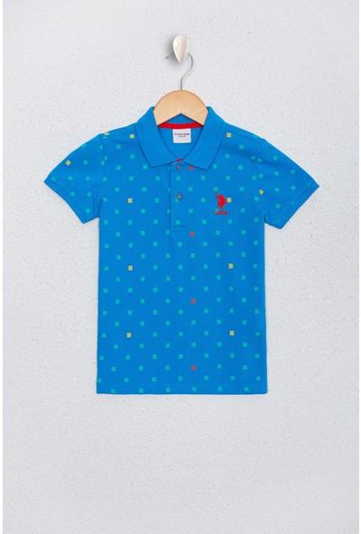 U.S. Polo Assn. Erkek Çocuk Mavi T-Shirt 50219000-Vr077