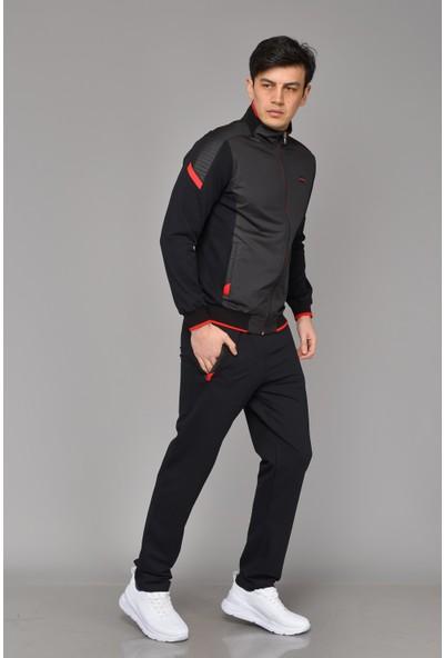 Bessa Eşofman Takımı Paraşüt Kumaş Detaylı Siyah
