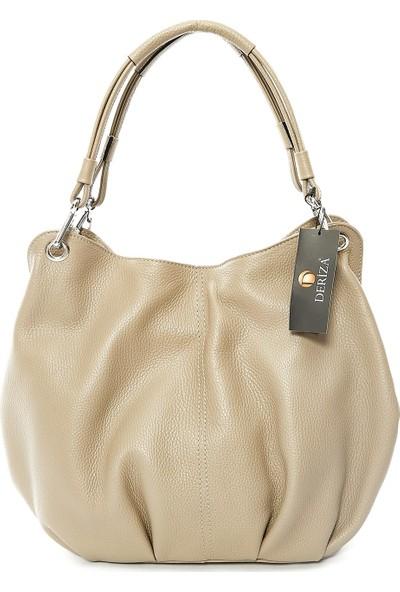 Parma Hakiki Kadın Deri Çanta Vizon
