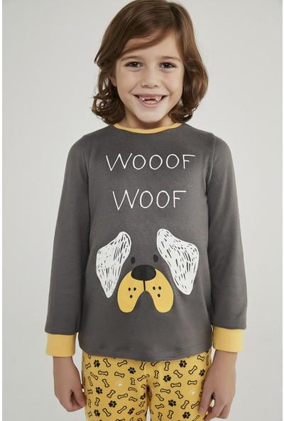 Penti Çok Renkli Erkek Çocuk Woof Termal 2li Pijama Takımı