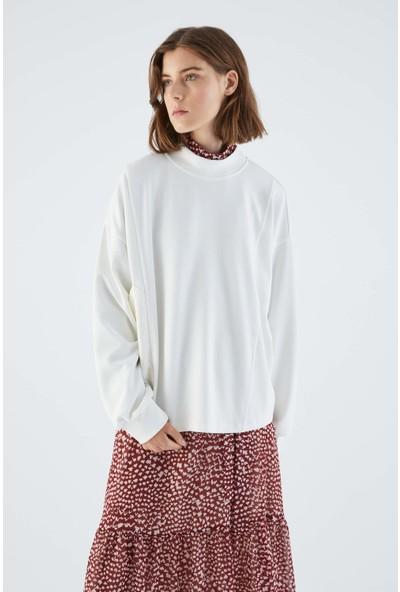 Roman Cep Detaylı Kemik Sweatshirt-K2154109-019