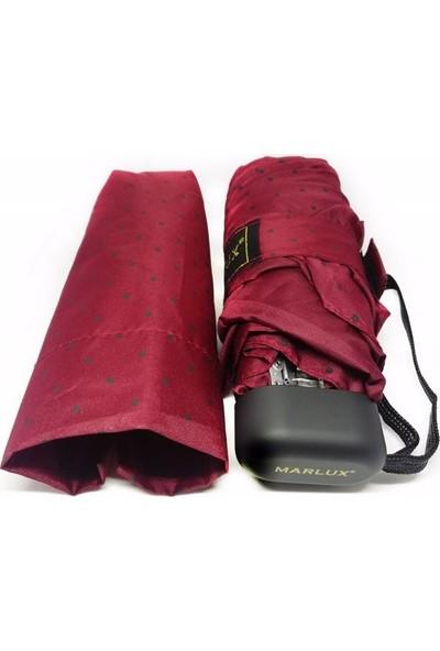 Marlux Mini Cep Bayan Şemsiye, Bordo, 17 Cm, Ultra Mini Şemsiye