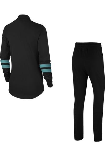 Poseidon Storm Kadın Siyah Günlük Sporcu Eşofman Takımı S-3xl Su Yeşili Iki Bant - M3
