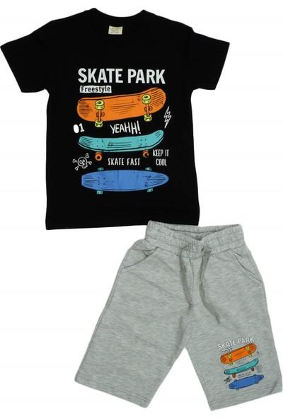 Ceo Kids Skate Park Baskılı Erkek Penye Kapri Takım