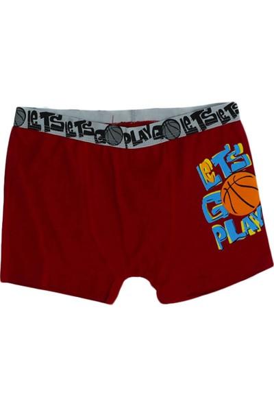 Dr.Bugyi Boys Erkek Çocuk Basketbol Topu Baskılı Boxer