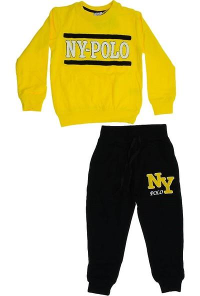 Ny-Polo Erkek Çocuk Önü Nakış Detaylı Penye Takım