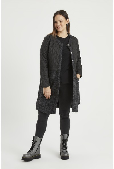 Accort W70-103 Buklet Kadın Kaban - Siyah