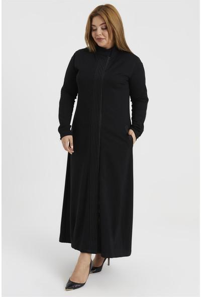 Accort W9-026 Miranda Kadın Ferace - Siyah