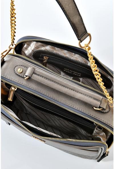 Los Angeles Polo Club 6341 Uzun Askılı Kadın Çantası Gümüş
