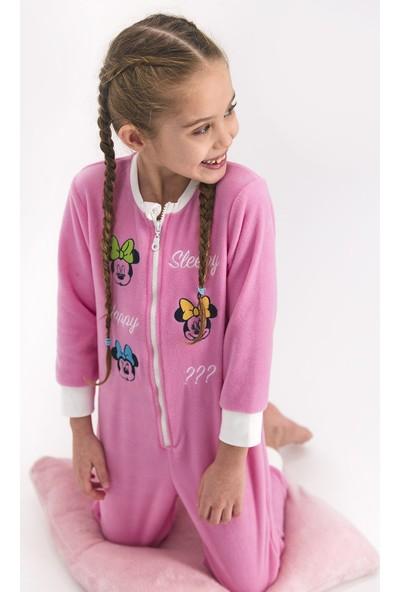 Mınnıe Mouse Kız Çocuk Tulum Pembe