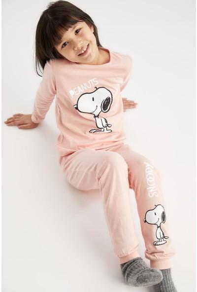DeFacto Kız Çocuk Snoopy Lisanslı Pijama Takımı