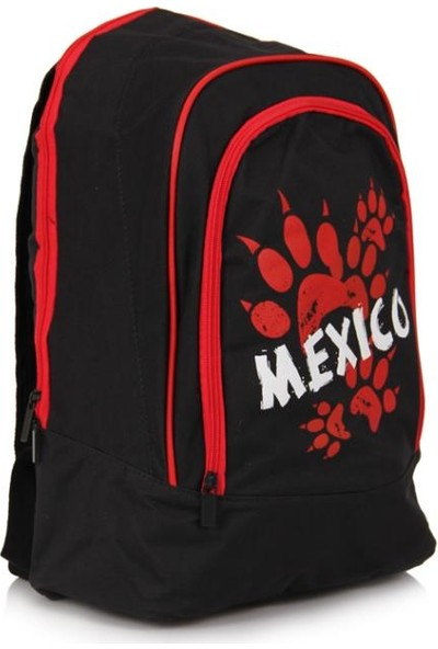 Onitsuka Tiger Mexico Sırt Çantası (MEX-002) Siyah - Kırmızı