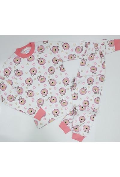 Seçkin Baby Kız Çocuk Ekru Renk Pamuk Mevsimlik Pijama Takımı