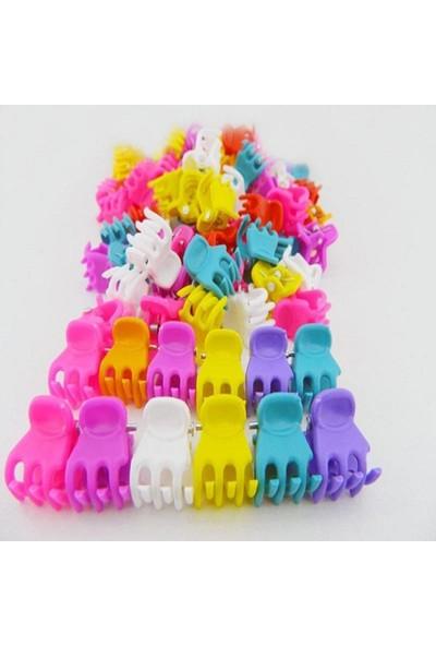 Sermet Süs Dünyası 24 Adet Renkli Mini Mandal Toka