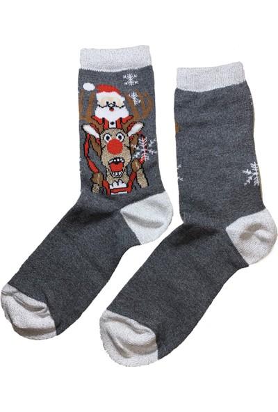 Calze Vita Yılbaşı Temalı 3 Çift Kutulu Kadın Çorabı