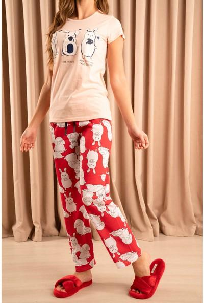 Hadise Shhh Baskılı Pijama Takım Pudra