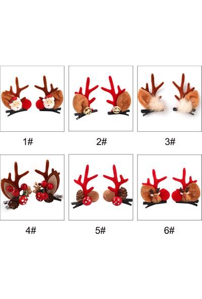 Anself Mutlu Noel Saç Klipleri Çocuk Kız Güzel Elk Boynuz
