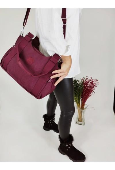 Smart Bags 1163 Bordo Krinkıl Omuz Çantası