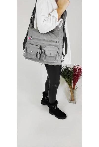 Smart Bags 1118 Gri Krinkıl Sırt Çantası
