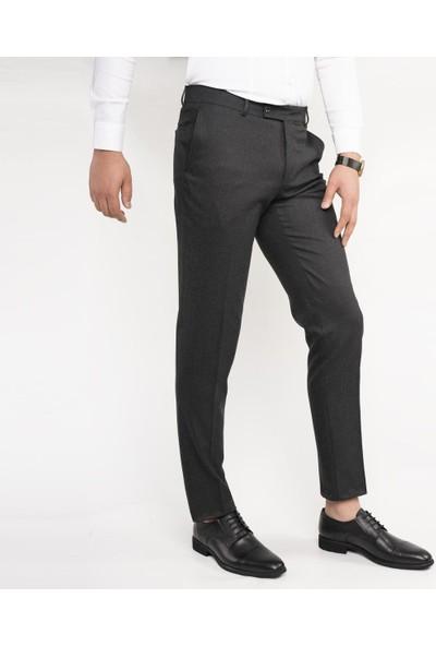 Apartro Regular Fit Kışlık Bitik Ekoseli Kumaş Pantolon