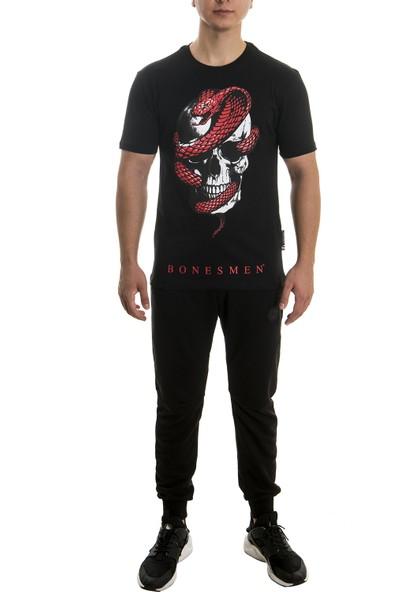 "Yuvarlak Yaka T-Shirt ""kırmızı Yılan"""