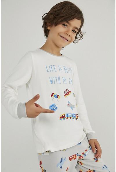 Penti Çok Renkli Erkek Çocuk Toy Car Termal 2li Pijama Takımı