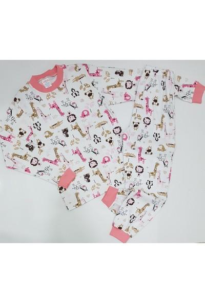Seçkin Baby Kız Çocuk Ekru Renk Pamuk Pijama Takımı
