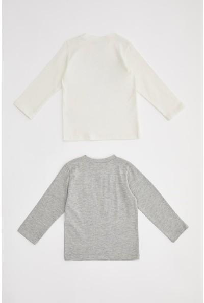 Defacto Erkek Bebek Baskılı 2 'Li Tişört
